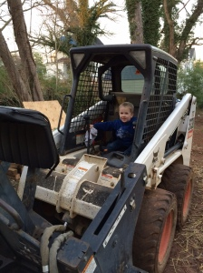 We have two little boys and a large piece of equipment in our backyard...this was bound to happen.