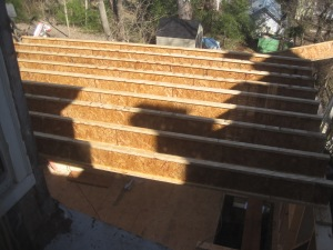 Second floor joists (first time)