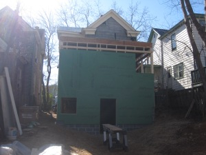 Teaser for next week's post: This was the last week we could see the old roofline from the ground!